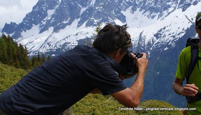 Photoshoot Salomon sur le Tour du Mont Blanc