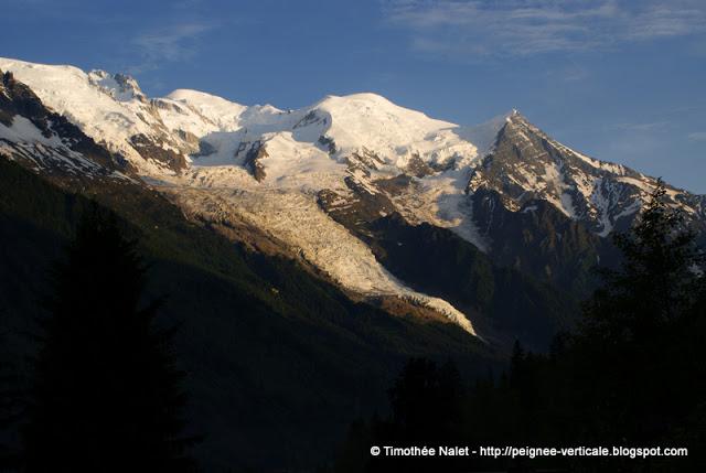 Sunset sur les Aiguilles de Chamonix