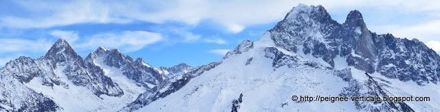 Col de Beugeant (2807mt) et Col d'Encrenaz depuis la Flégère