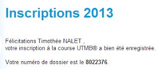 Je courrai l'UTMB en 2013 !