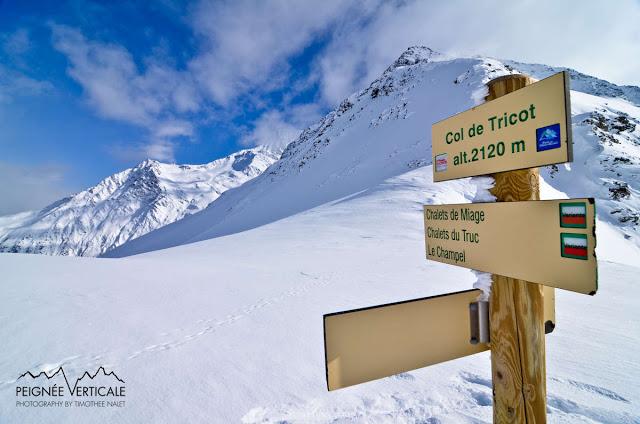 Col de Tricot (2120m), par les Chalets de Miage