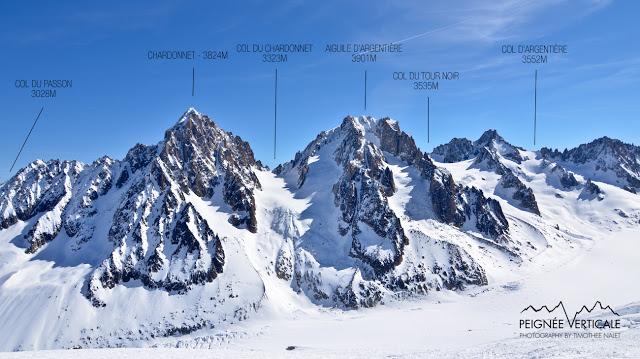 Col d'Argentière (3552m), par le glacier du Tour Noir
