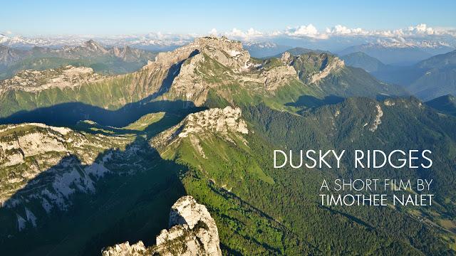 [Vidéo] Dusky ridges (survol des Bauges en ULM au crépuscule)