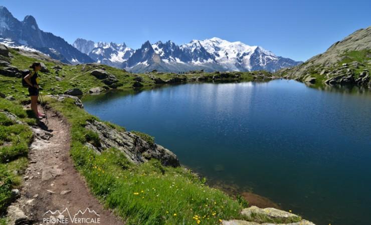 Le Lac Blanc (2352m), depuis le col des Montets
