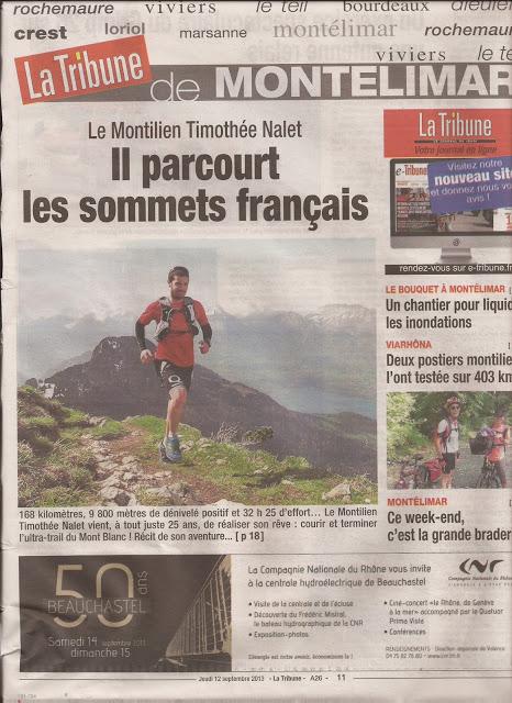 Une pleine page dans La Tribune du 12 septembre 2013 !