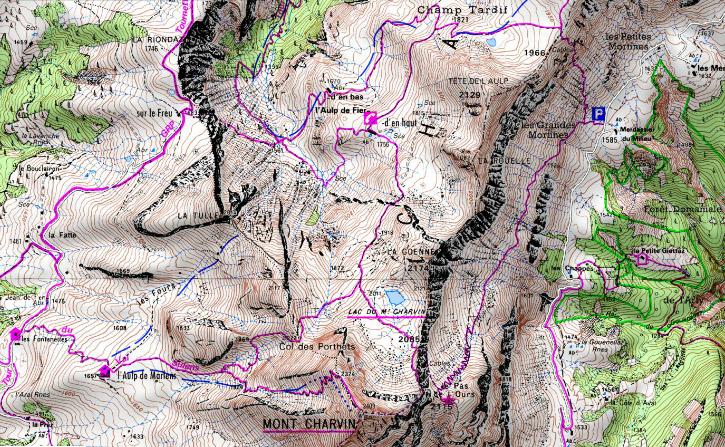Mont Charvin, arête Est et boucle depuis Sous l'Aiguille (Manigod)