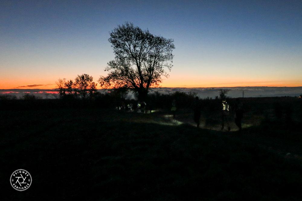 Saintélyon Trail 2015 lever de soleil