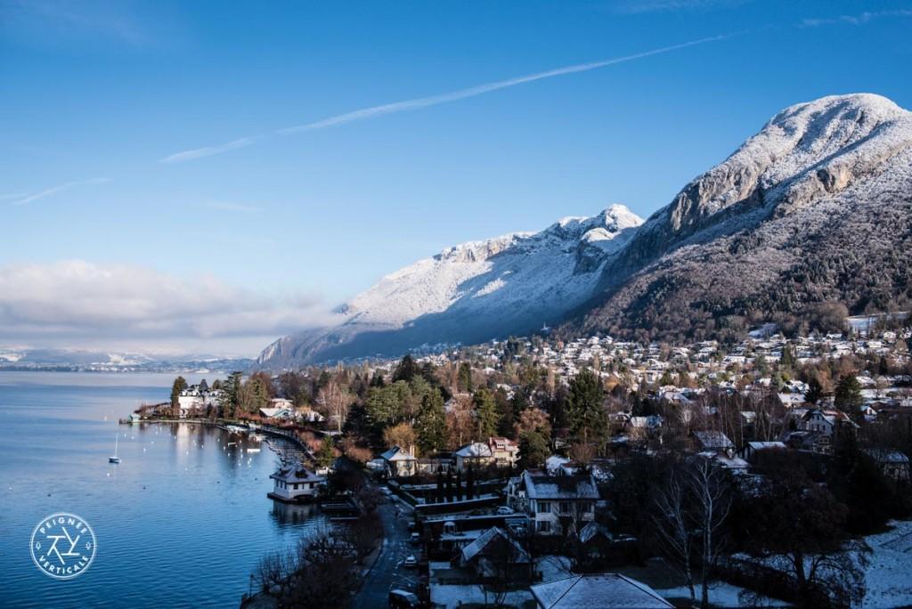 Lac d'Annecy depuis le Palace de Menthon