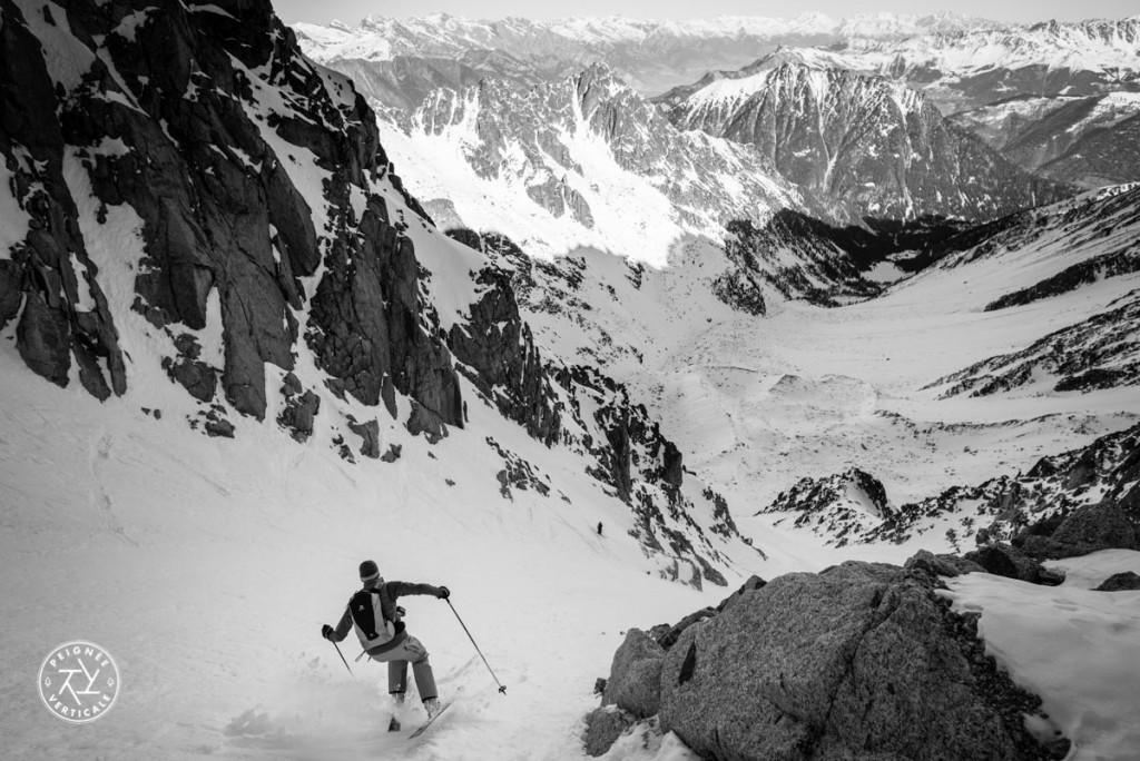 Couloir d'Orny en ski de randonnée