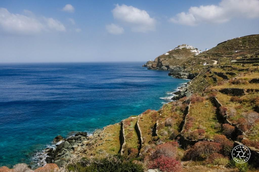 Le village de Kastro, à lEst de Sifnos