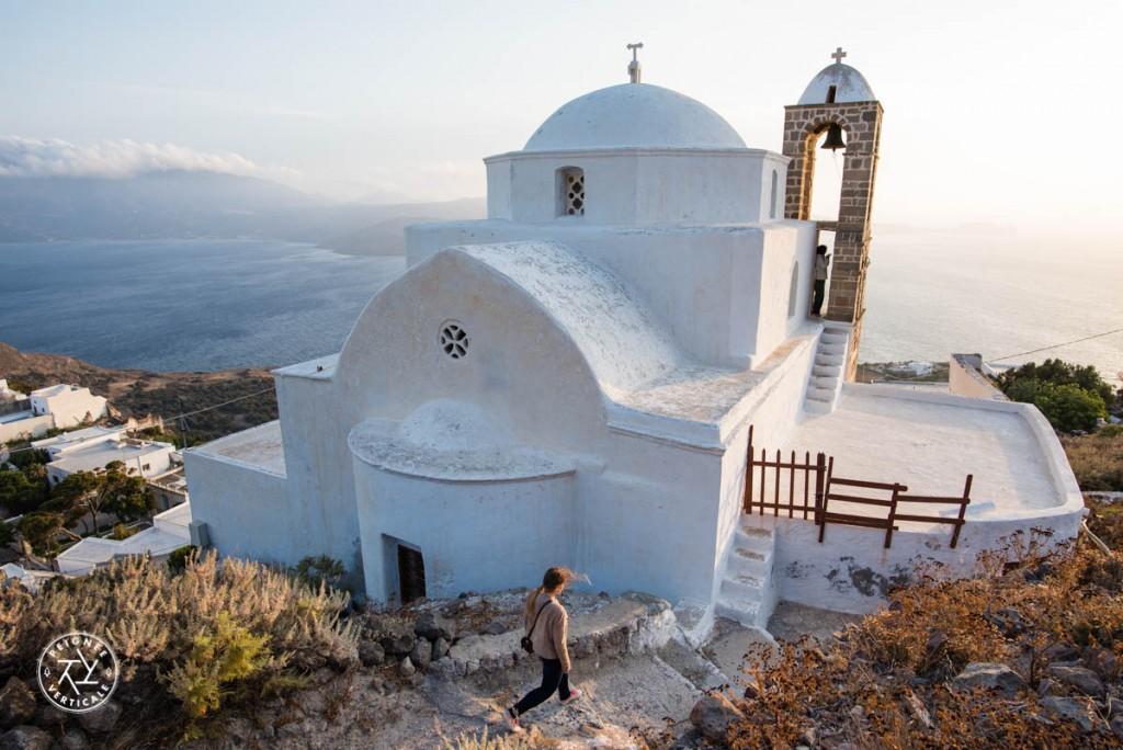 Les monastères sont en nombre incalculable dans les Cyclades. Ici celui qui domine Plaka, à Milos.