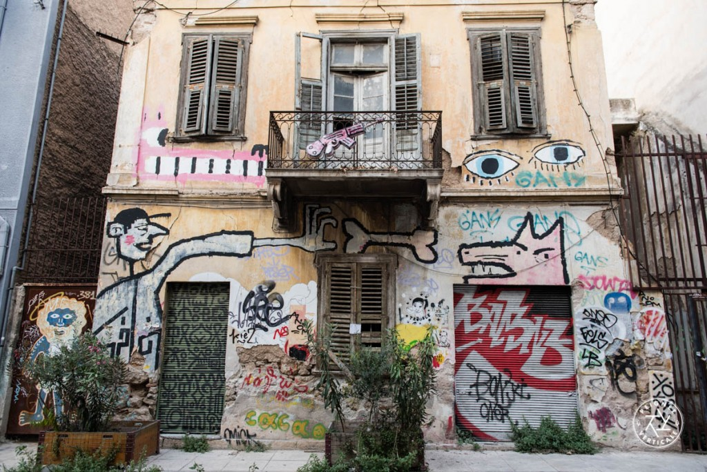 Les nombreux ouvrages de street art dans les rues d'Athènes.