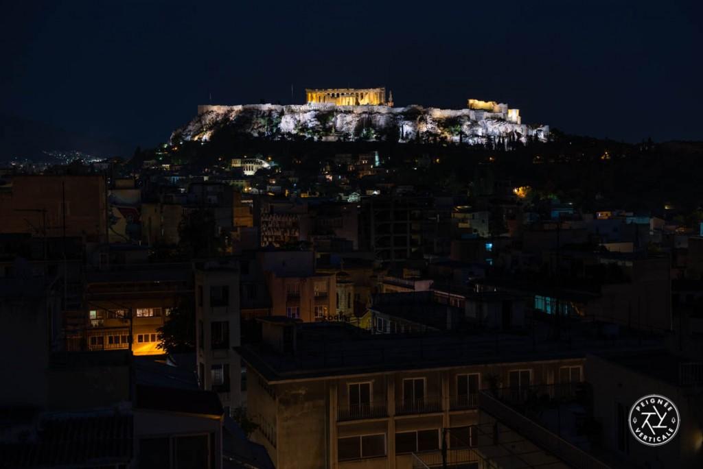 Vue sur l'Acropole et le Parthénon