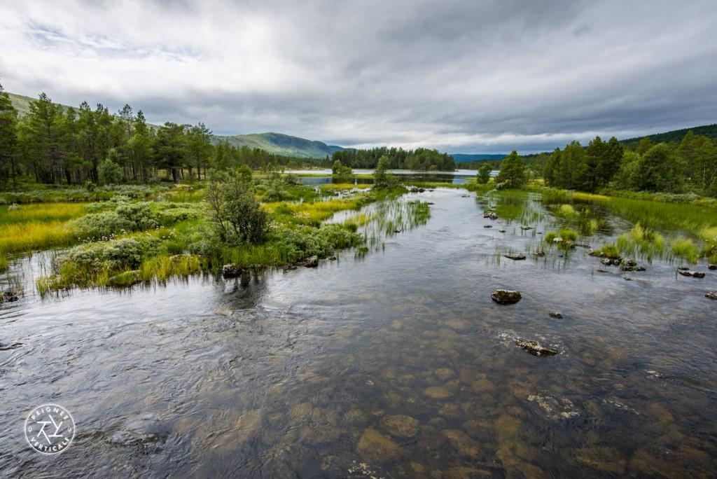 Du côté de Geilo, joli spectacle en HDR offert sur les berges d'une rivière.