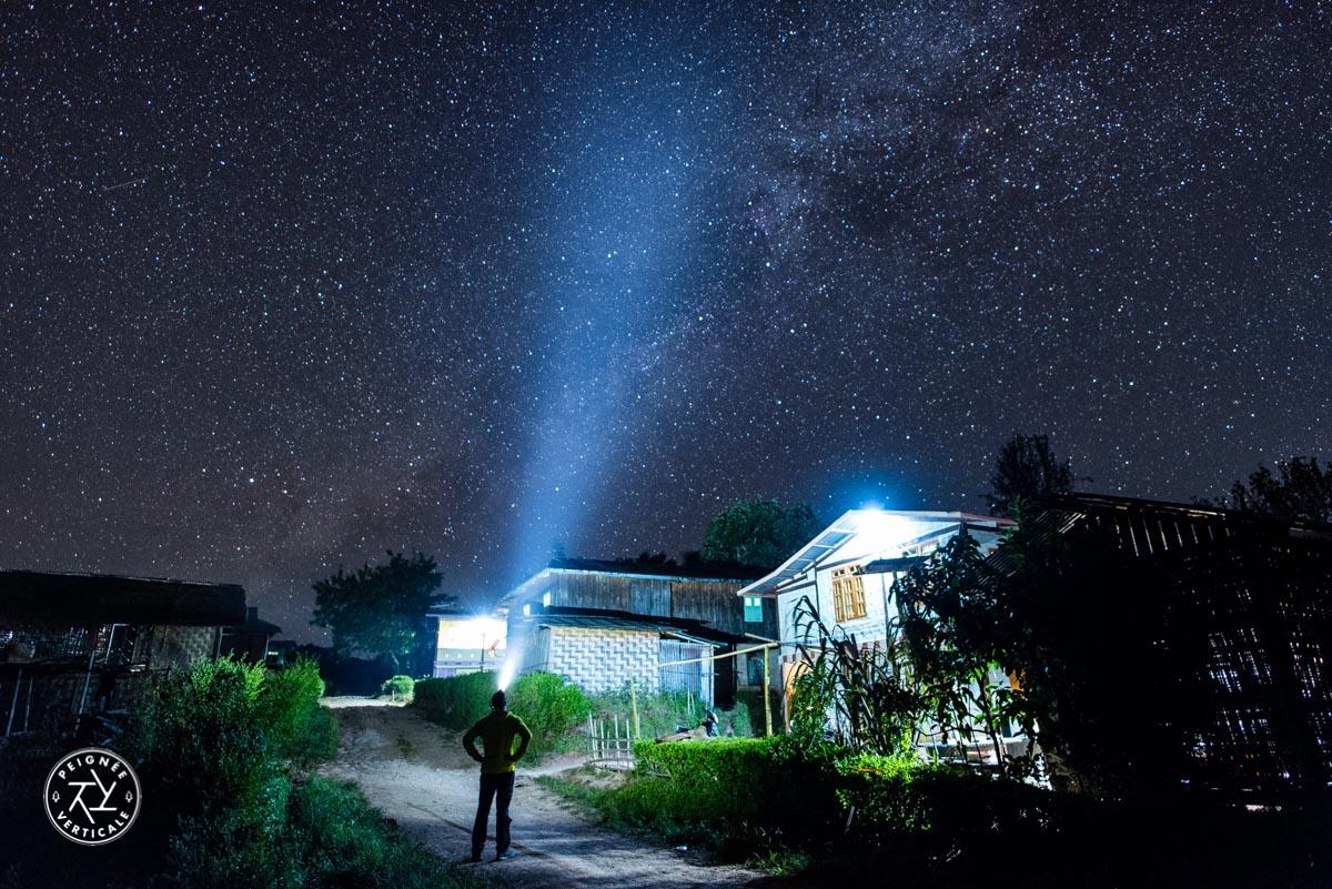 Nuit étoilée à Kalaw en Birmanie