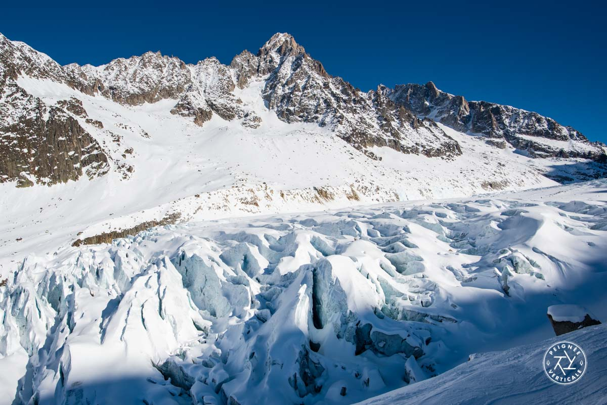 Les séracs du glacier d'Argentière