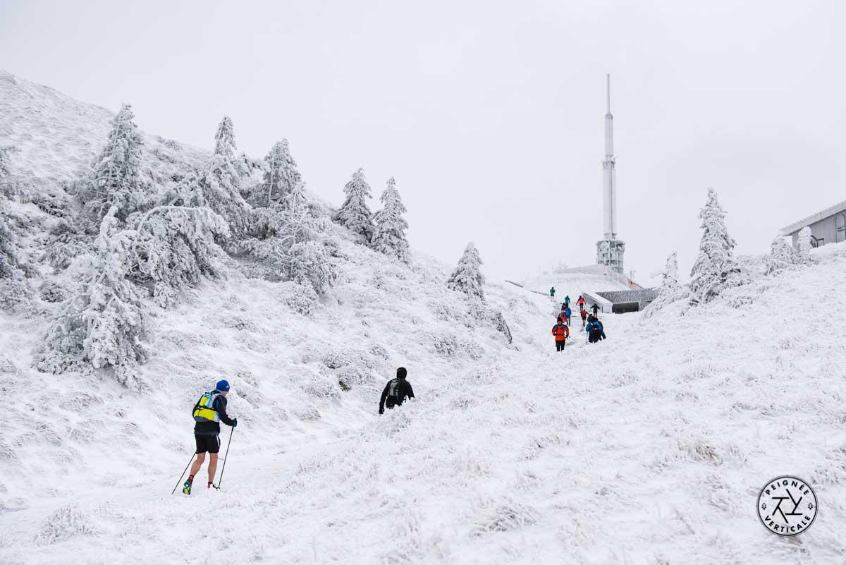 Paysage hivernal au Puy de Dôme