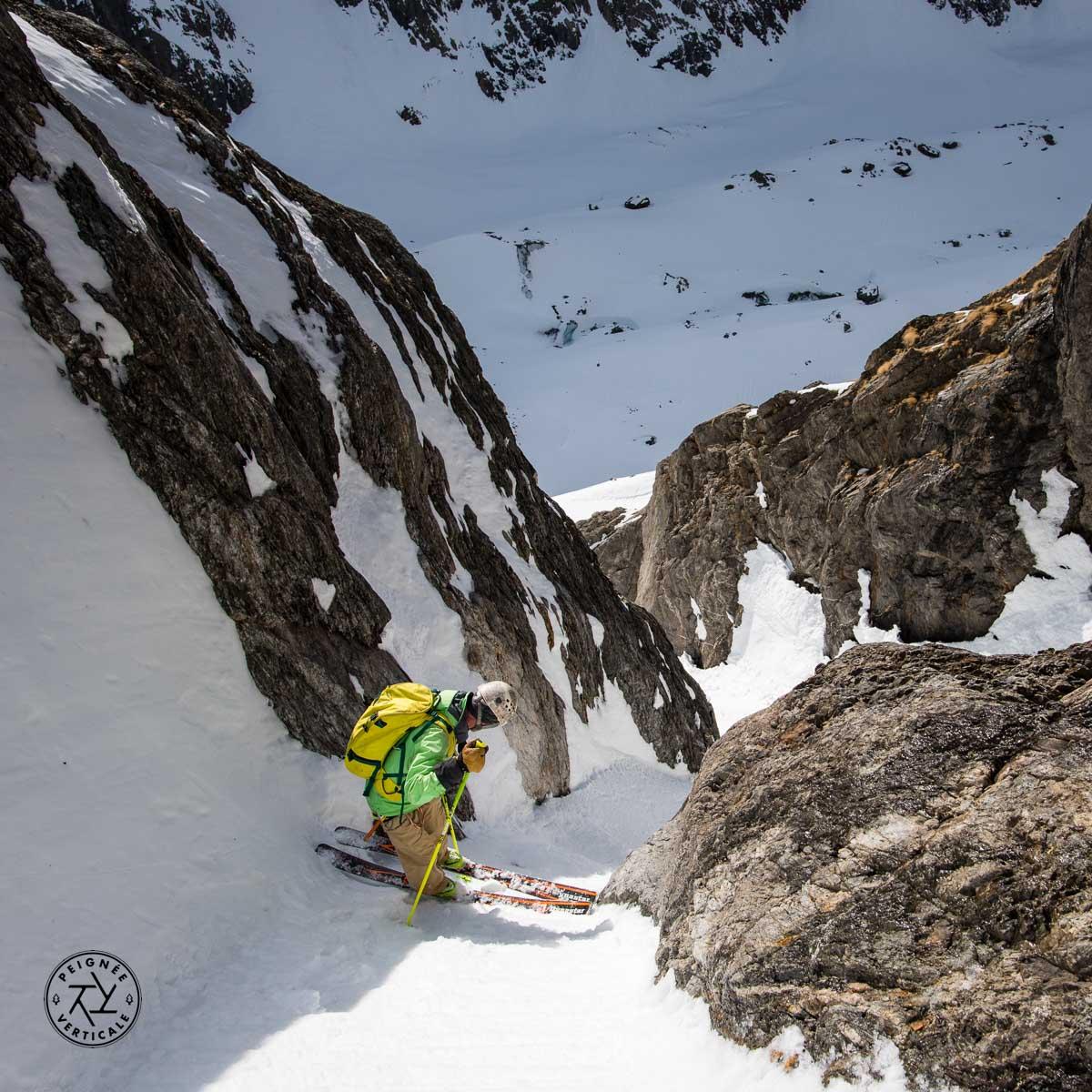Passage très étroit en ski
