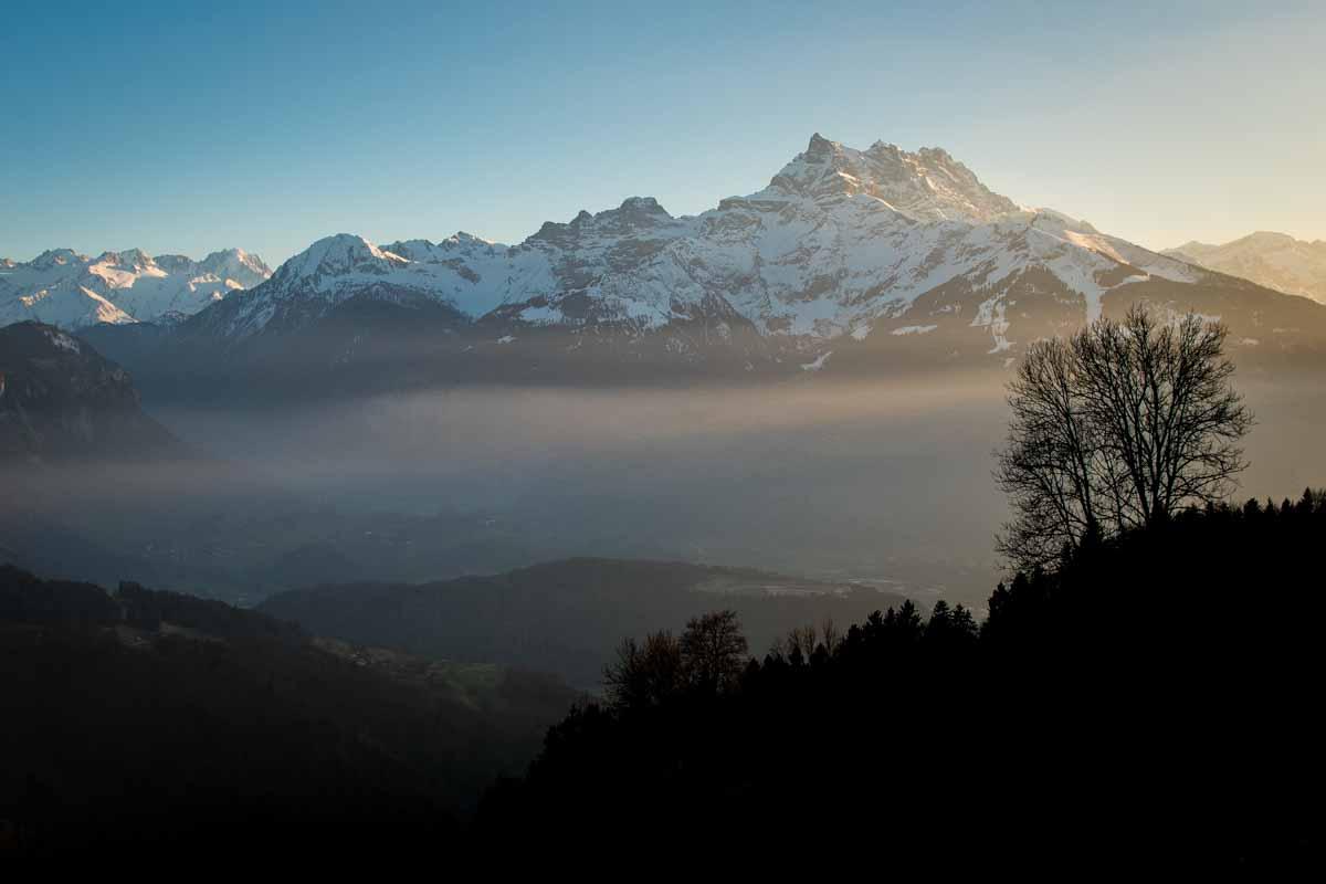 Les Dents du Midi depuis Villars sur Ollon