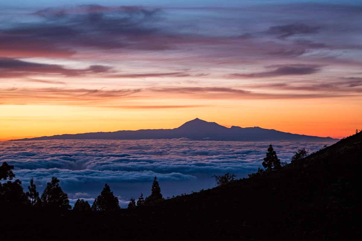 Lever de soleil sur le Teide - Espagne
