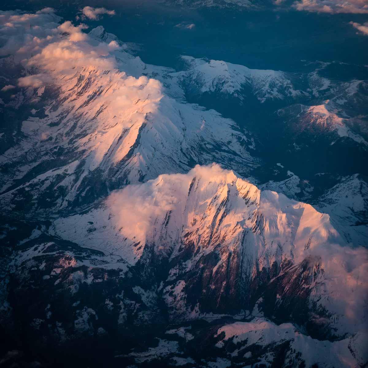 Chaîne des Aravis vue depuis un avion