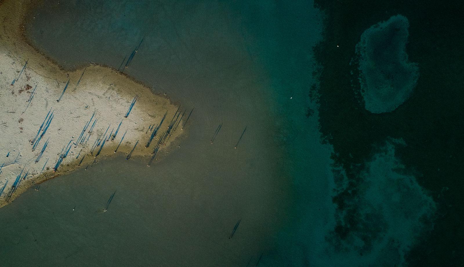 La plage du Paquier vu du ciel