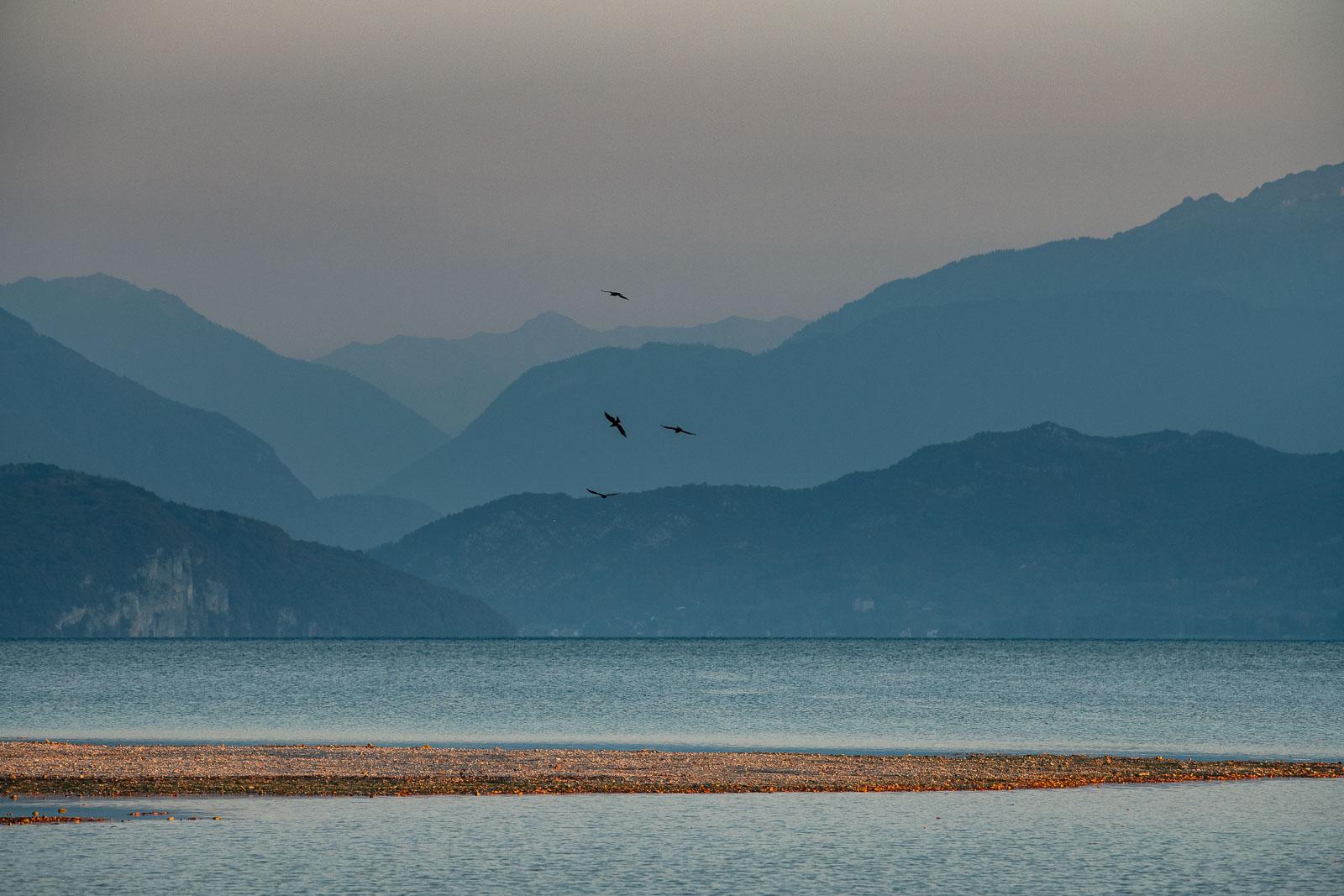 Plage crée suite à la sécheresse du Lac d'Annecy