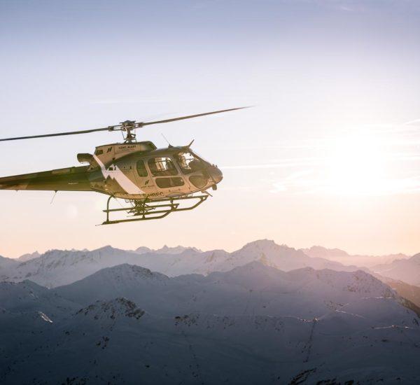 Shooting pour Mont Blanc Hélicoptères