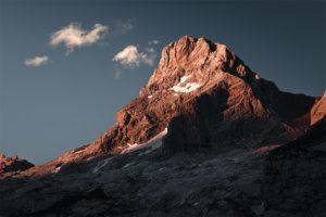Fin de journée sur la reine des Aravis (2750m), France. Format paysage.
