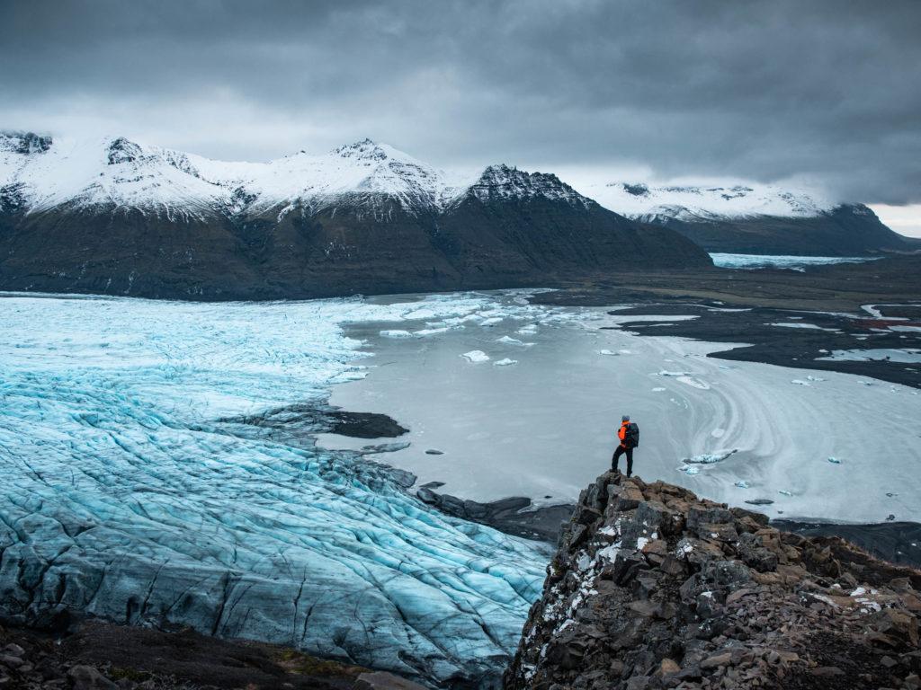 fin ou début d'un glacier islandais. Format paysage