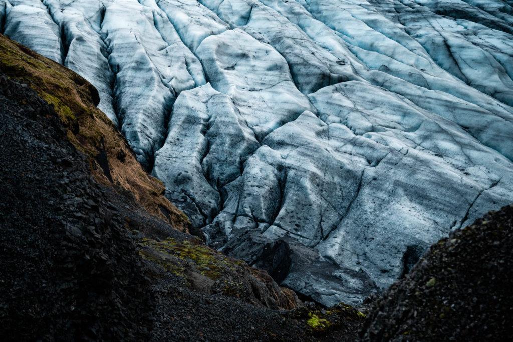 glacier islandais. Format paysage